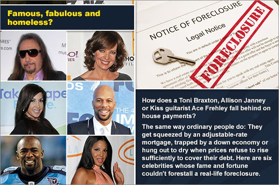 They're rich and famous and in foreclosure | Foreclosure document:  zimmytws/Shutterstock.com