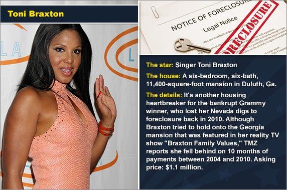 Toni Braxton © Helga Esteb/Shutterstock.com, foreclosure document: © zimmytws/Shutterstock.com