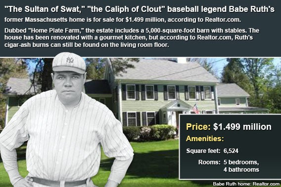 Celebrity house for sale: Babe Ruth