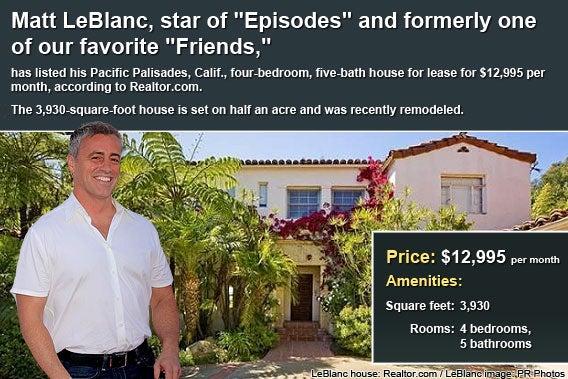 Celebrity house for rent: Matt LeBlanc
