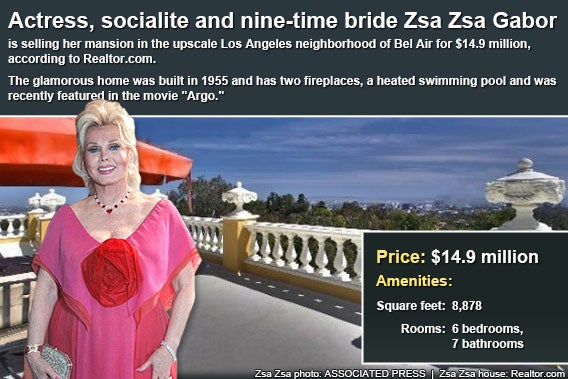 Celebrity house for sale: Zsa Zsa Gabor