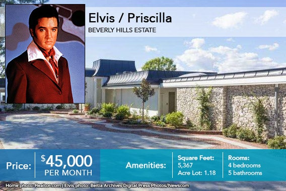 Celebrity house for sale: Elvis | Home photo: © Realtor.com | Elvis photo: © Beitia Archives Digital Press Photos/Newscom