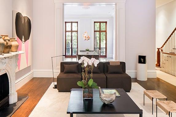 living-room Brokers: Fredrik Eklund and John Gomes of Douglas Elliman; Photographer: Evan Joseph