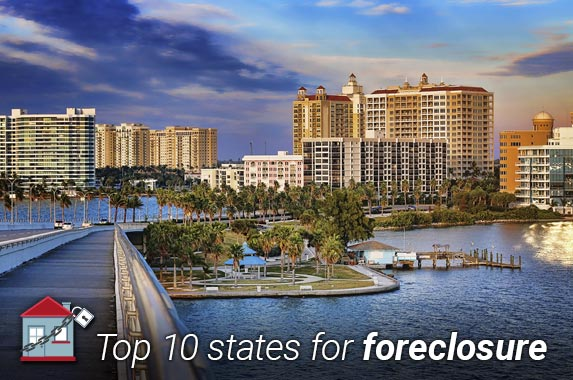 Top 10 states for foreclosure © iStock