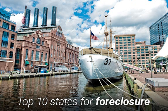 Top 10 states for foreclosure | Scott Wyden Kivowitz/Moment/Getty Images