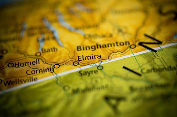 Elmira, New York © sevenMaps7/Shutterstock.com