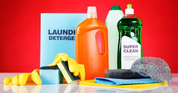 Cleaning products © iStock