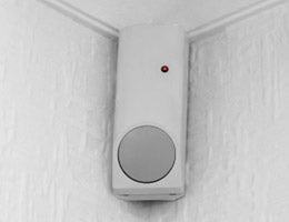 Sensor on a wall