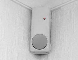 Sensor on a wall