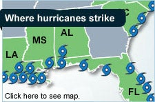 Where hurricanes strike