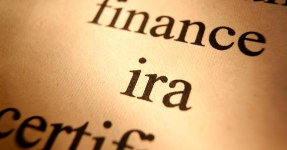 Close-up of word 'IRA' on piece of paper © iStock