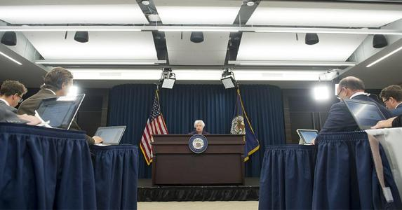 Janet Yellen speaking at conference | SAUL LOEB/Getty Images