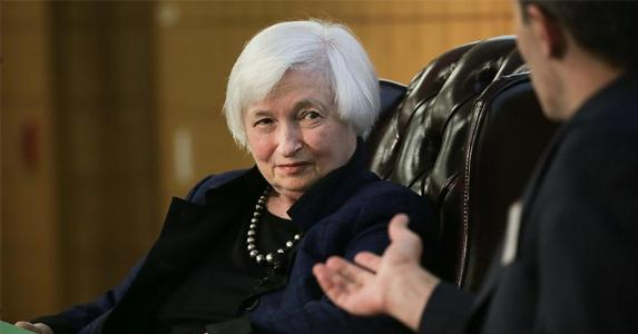Janet Yellen sitting on chair | Elijah Nouvelage/Getty Images