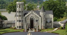 A lakefront castle with racetrack in Johnson City, Tenn.  - Photo courtesy of Alliance Sotheby's International