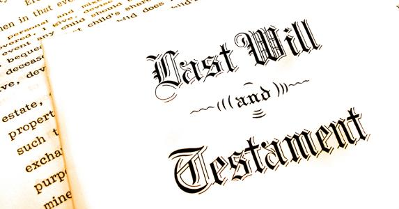 Last will and testament © Lane V. Erickson/Shutterstock.com