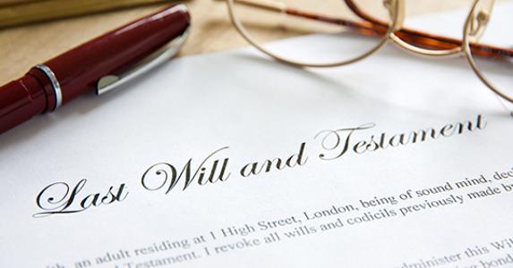 Last will and testament © SteveWoods/Shutterstock.com