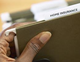 Home insurance file folder