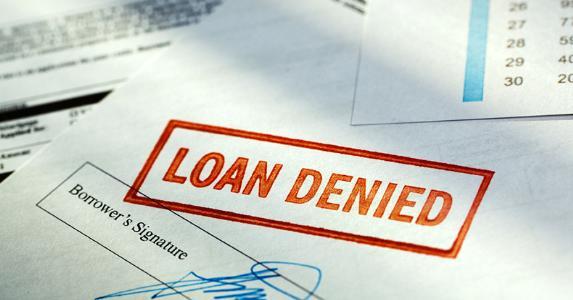 Loan denied © iStock
