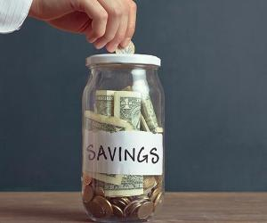 Adding to savings jar