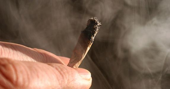 Marijuana and smoke