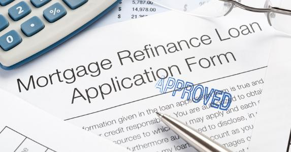 Mortgage refinance loan application form © iStock