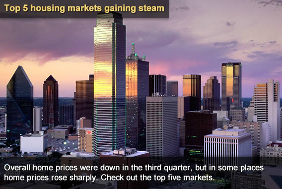 Top 5 housing markets gaining steam