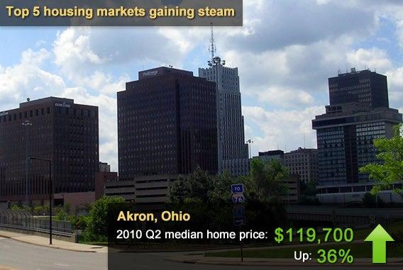 5 housing markets gaining steam