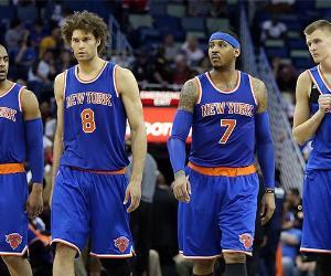 New York Knicks team | Sean Gardner/Getty Images