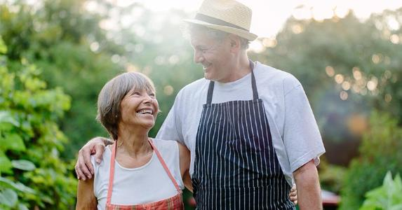 Older couple gardening | Hinterhaus Productions/Getty Images