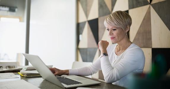 Older woman filing taxes online   Hero Images/Getty Images
