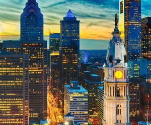 Philadelphia skyline at sunset © iStock