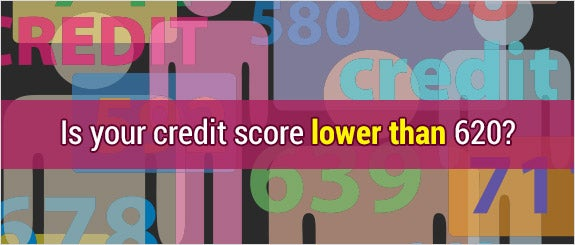 Is your credit score lower than 620?  © Michael D Brown/Shutterstock.com