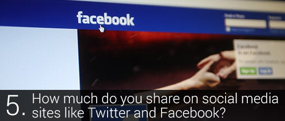 How much do you share on social media sites like Twitter and Facebook? © Northfoto Shutterstock.com