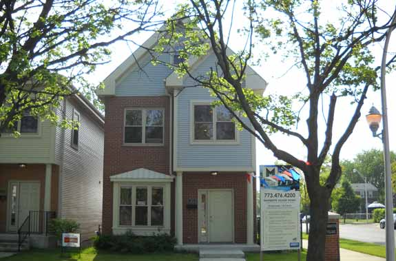A 3-year-old prairie-style house in the Hyde Park neighborhood in Chicago.