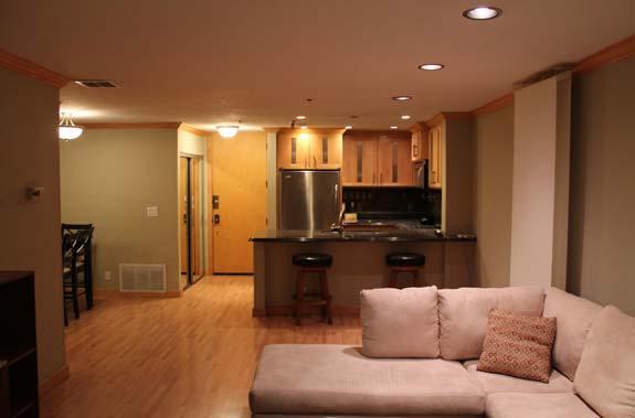 A one-bedroom condo in downtown Los Angeles.