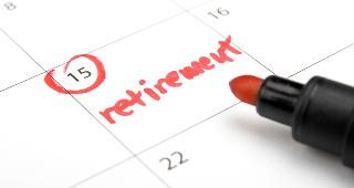 Retirement marked on calendar © Jirsak/Shutterstock.com
