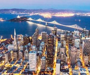 San Francisco skyline at night | Matteo Colombo/Getty Images