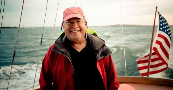 Senior man on a boat | Meg Haywood-Sullivan/GettyImages