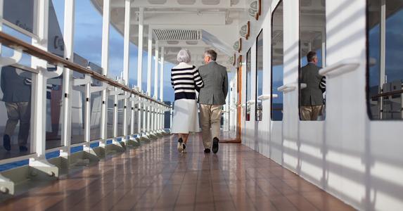 Seniors on cruise ship   Photo credit: Cunard Line
