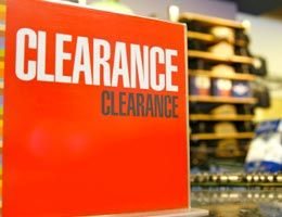 Why clearance items are in the back