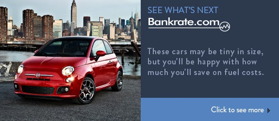 These cars may be tiny in size, but you'll be happy with how much you'll save in fuel costs.