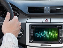 Speech-to-text systems: Extensive risk © Rafal Olechowski/Shutterstock.com; Audio wave © Anigoweb/Shutterstock.com