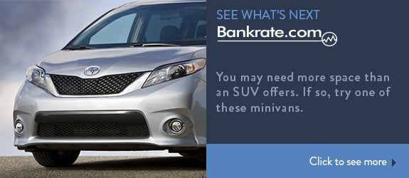 You may need more space than an SUV offers. If so, try one of these minivans.