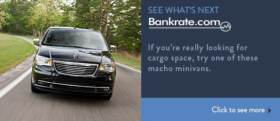If you're really looking for cargo space, try one of these macho minivans