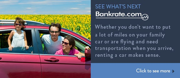 Whether you don't want to put a lot of miles on your family car or are flying and need transportation when you arrive, renting a car makes sense.