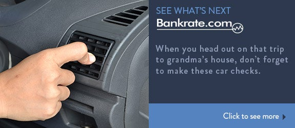When you head out on that trip to Grandma's house, don't forget to make these car checks.