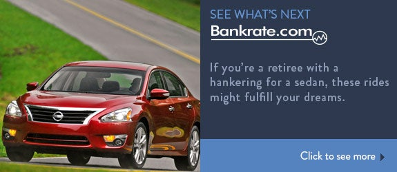 If you're a retiree with a hankering for a sedan, these rides might fulfill your dreams.