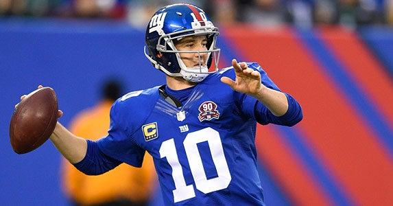 Eli Manning © Rich Kane/Icon Sportswire/Corbis