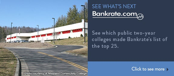 See which public two-year colleges made Bankrate's list of the top 25.
