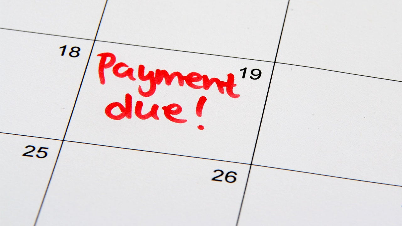 You've missed credit card payments | mareesw/Getty Images